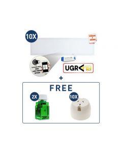 40W LED Panel 5000K 1195x295 + FREE Plug Base & Dimmers Bundle