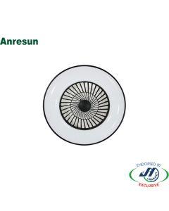 Anresun 40W Fan with LED Light Round Black&White 600x195