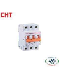 CHT MCB 6kA 3 Pole 20A C-Curve