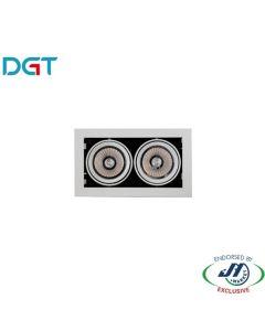 DGT Two Heads Adjustable Spotlight 2x17W 3000K - MQ7158 325x180mm