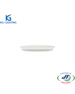 KG 24W Slim Dimmable Tri-colour LED Oyster Light-380 x H60 mm