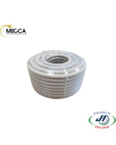 MECCA Flexible Corrugated Conduit 20mm MD Grey 50M