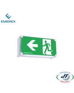 Emerex Weatherproof  Wall Box Emergency Exit Light Left Arrow