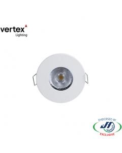 Vertex 6W Cabinet Downlight 3000K Recessed 70mm