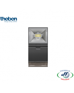 Theben 10W Spotlight With Motion Detector 3000K Black