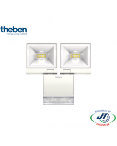 Theben 2x10W Spotlight 3000K with Motion Detector White