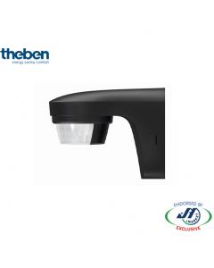Theben 180D Outdoor Sensor Wall Mount 12M - Black