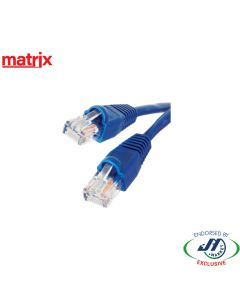Matrix CAT5E RJ45 Patch Cord 0.5M Blue