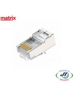Matrix Round Entry 8 Position RJ45 Shielded Crimp Plug PK100