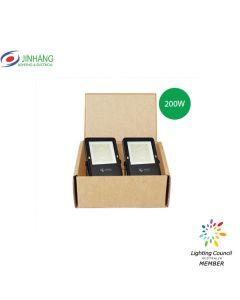 JinHang 200W LED Floodlight V6 5700K Clear (Pack of 2)