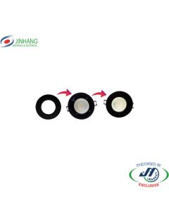 JinHang 90mm Black Ring for 12W All-In-One Downlight