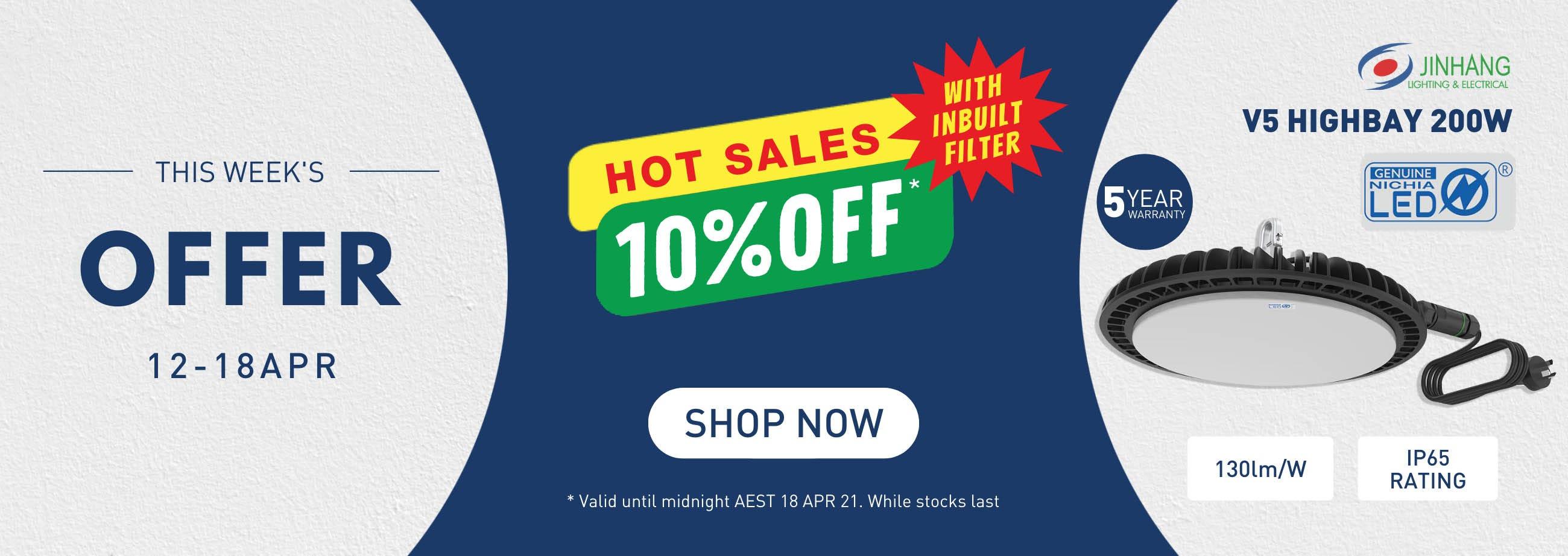JH highbay offer 10% 12 apr