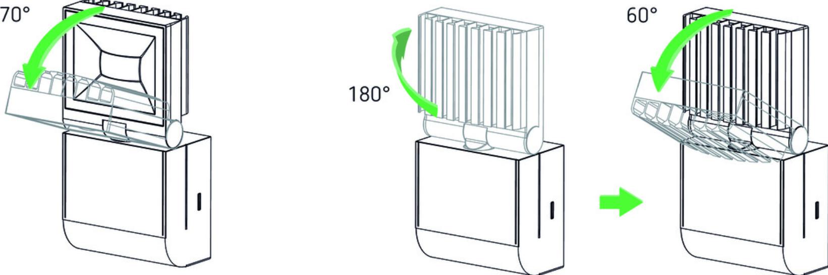 Theben outdoor sensor light adjustable range